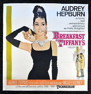 BREAKFAST AT TIFFANYS ✯ TIFFANY'S CineMasterpieces AUDREY HEPBURN MOVIE POSTER