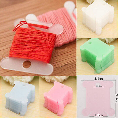 Plastic Thread Bobbins for Cross Stitch Embroidery Floss&Craft Sewing Storage JR