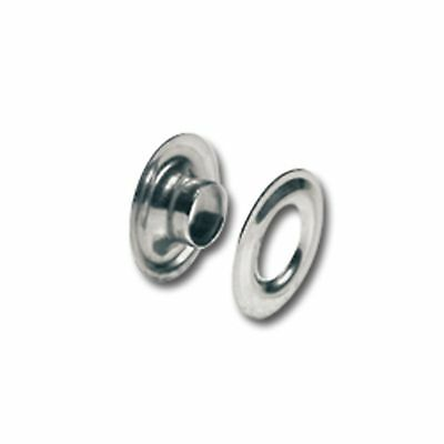 """Tandy Leather #0 Grommets Nickel Plated Brass 1/4"""" 100 Pack 11291-12"""