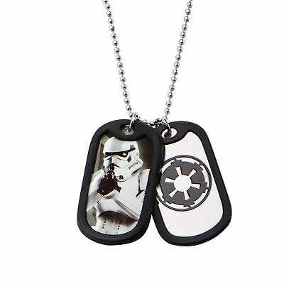 Star Wars Storm Trooper Dog Tag Stainless Steel Pendant Necklace