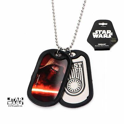 Star Wars VII: The Force Awakens Kylo Ren Stainless Steel Dog Tag Necklace