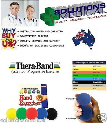 Theraband Hand Exerciser  Resistance Training Thera-Band 5 Translucent Colours