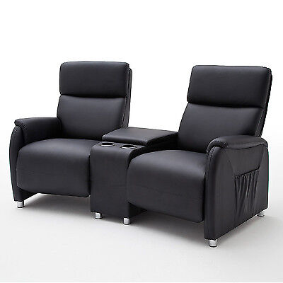 heimkino jasper home cinema 2 sitzer sofa mit tisch. Black Bedroom Furniture Sets. Home Design Ideas