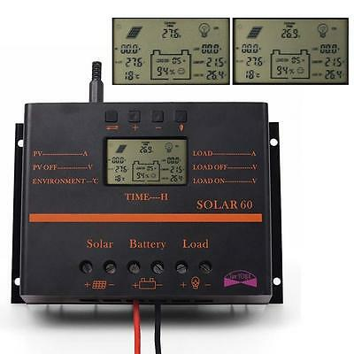 60A/80A LCD Solar Battery Regulator Charge Discharge Controller 12V/24V & USB WT