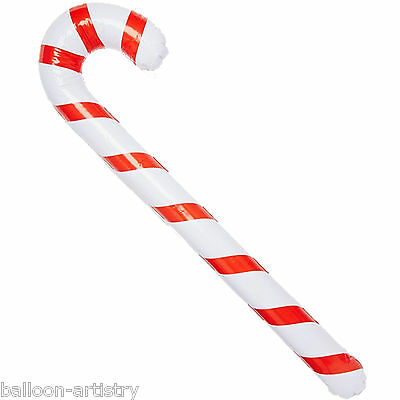 90cm Giant Christmas Party Red White Stripes Candy Cane Inflatable Decoration