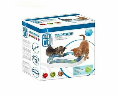 Catit Design Senses Cat Elevated Speed Circuit Kitten Chase Ball Toy 50735