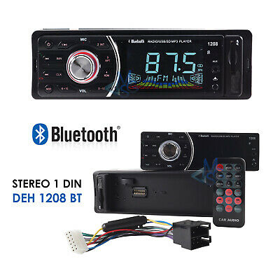 Stereo Autoradio USB SD AUX MP3 Radio FM Bluetooth Vivavoce iOs Android