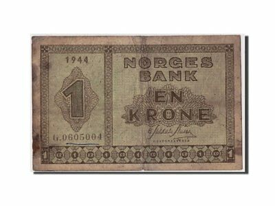 [#308102] Norway, 1 Krone, 1944, Undated, KM:15a, F(12-15)