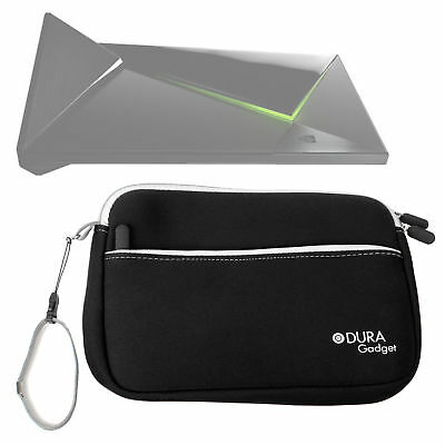 Black Protective Neoprene Zip Cover / Case For Nvidia Shield Android TV