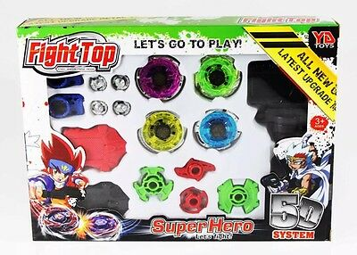Fight Master Beyblade top flight Metal Fusion 4D Launcher Spinning  Toy Gift