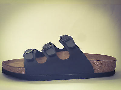CLEARANCE - New Birkenstock Florida Classic Sandals - Matte Black - $130