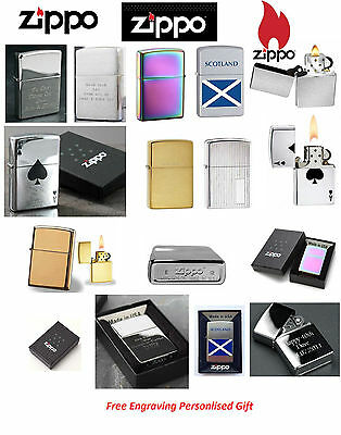 Genuine Zippo Lighters Engraving Personalised Engraved Gift , Boxed Xmas Present