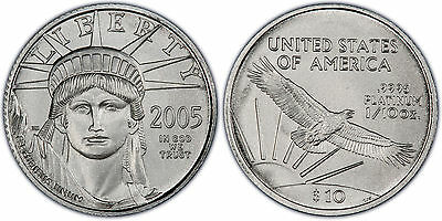 2005 $10 STATUE OF LIBERTY Platinum Eagle PCGS MS69