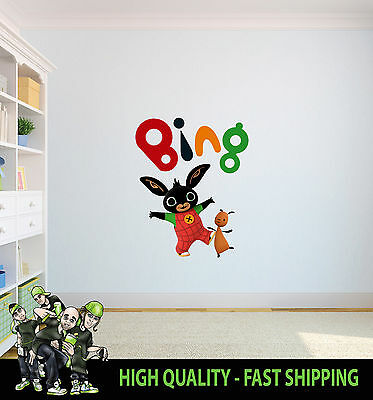Printed Wall Art Bing And Flop Tv Graphic Sticker Kids Bed Room