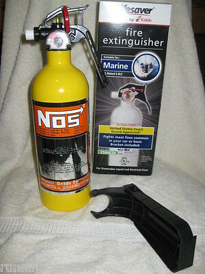 NEW Yellow Fire Extinguisher Looks Like NOS NITROUS BOTTLE DECAL NX ZEX Rat Rod