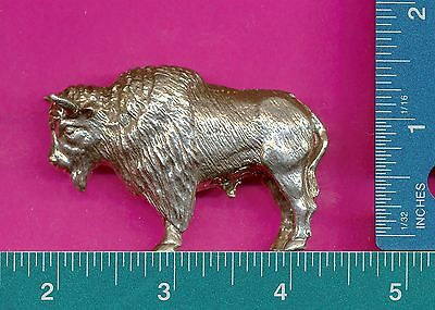 Lead free pewter buffalo bison figurine P12504