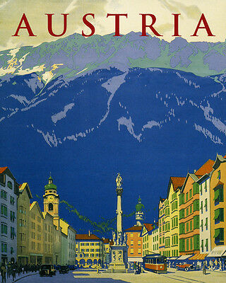 Cableway Alps Holidays in Austria Travel Tourism Vintage Poster Repro FREE S//H