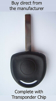 VAUXHALL CORSA 'C' 2004 - 2006 SPARE KEY with virgin ID40 Transponder Chip.