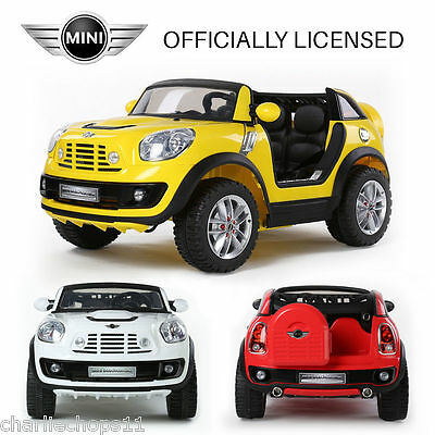 Kids 12v Mini Cooper Beachcomber Electric Ride On Car With Parental Remote