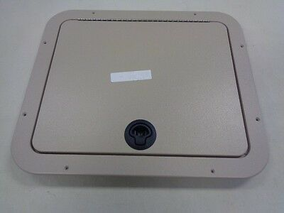 "Jet Technologies Hatch Door Assembly 19 3/8"" X 16 3/8"" Tan Marine Boat"