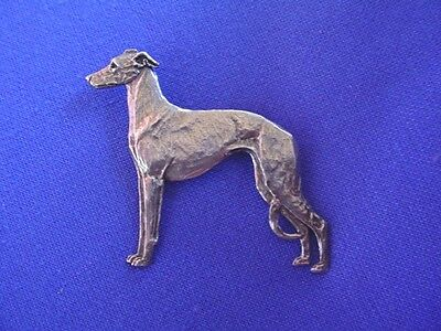 Whippet Greyhound Standing PIN #11B Pewter sighthound jewelry by Cindy A. Conter