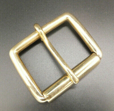 "STRONG - SOLID BRASS SINGLE ROLLER BELT BUCKLE Leather craft [1-3/4"" - 45 mm]"