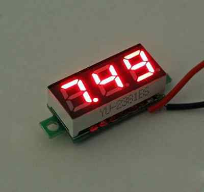 0.28 Inch DC 2.5V-30V Red LED Mini Digital Voltmeter Voltage Tester Meter