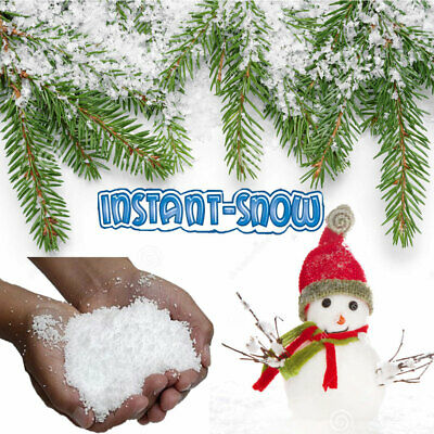 15g/1Lt Instant Artificial Fake Snow Powder Kids Play Wedding Xmas Party Decor