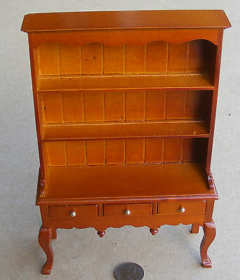 1:12 Scale Oak Colour Queen Anne Dresser Tumdee Dolls House Miniature Kitchen