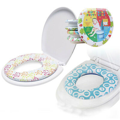 Kids Baby Toddler Safety Soft Padded Toilet Trainer Child Potty Training Seat