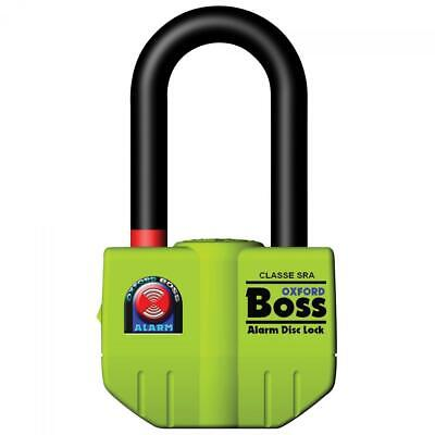 Oxford Boss Alarmed Disc Lock Chain Padlock Thatcham Approved 100dB Alarm