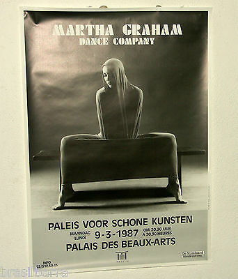 AFFICHE : MARTHA GRAHAM Dance Company Palais des Beaux Arts 1987
