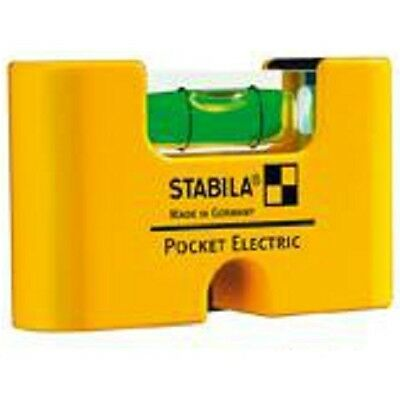 Stabila Mini Wasserwaage Pocket Electric, 7 cm, Taschen Magnetwasserwaage
