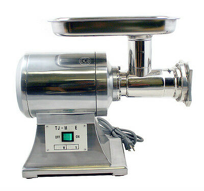 New MTN Commercial 1HP Stainless Steel Electric Meat Sauage Grinder No #22