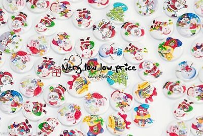 Christmas Xmas Sewing Buttons For DIY, Scrapbooking, Cards, Frames