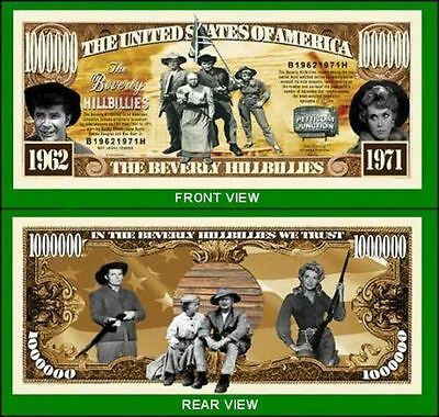 5 Factory Fresh Novelty Beverly Hillbillies Million Dollar Bills
