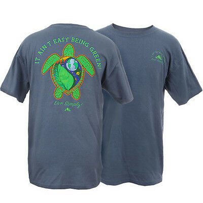 Peace Frogs Live Simply Sea Turtle Small Adult T-Shirt