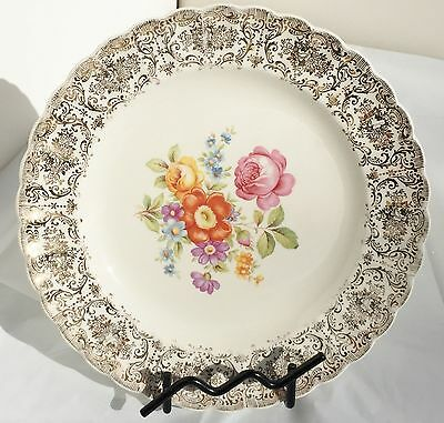 Meissen Rose by Sebring  K-S384 Floral Filigree Scallop Bread & Butter Plate