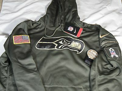 26e1dd77d New Mens Nike 2015 NFL Seattle Seahawks Salute to Service STS KO Hoodie 2XL
