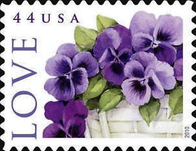 2010 44c Love Special Issue, Pansies in a Basket Scott 4450 Mint F/VF NH