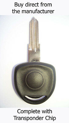 VAUXHALL Corsa 1995 - 2003 SPARE KEY with Virgin ID40 Transponder Chip.