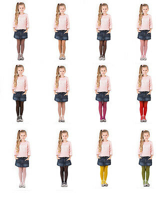 Girls Tights 15 Denier  Soft Shine Bridesmaids ,12 Various Colours ,Age2-12