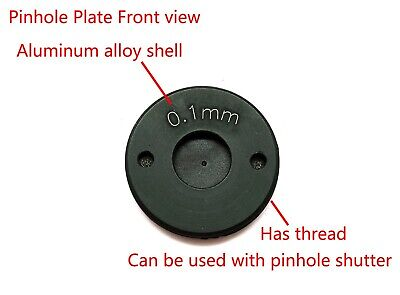 18° Laser Drilled Pinhole Piece 0.2mm/0.3mm/0.4mm/0.5mm with Shutter