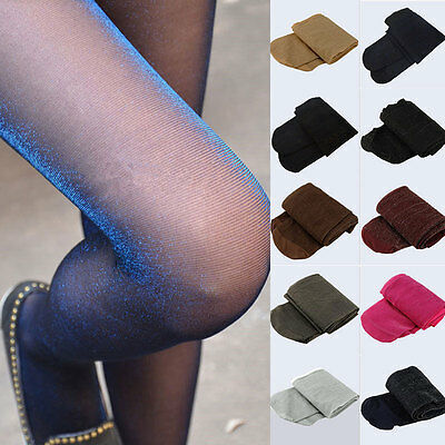 Fashion Womens Glitter Shimmer Sheer Pantyhose Opague Stockings Tights Hosiery