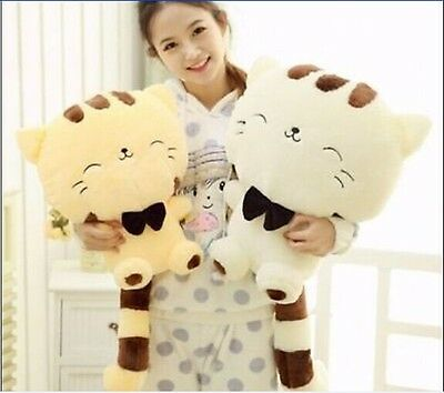"""New 18"""" 45CM Include Tail Cute Plush Stuffed Toys Cushion Fortune Cat Doll"""