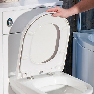 New Luxury Soft Close Heavy Duty D-Shape Toilet Seat With Top Fixing Hinges