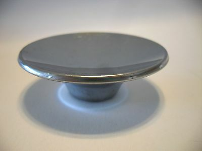 "Vintage Mid Century 2-1/2"" CHROME DRAWER KNOBS Cabinet Door Pulls Concave Handle"