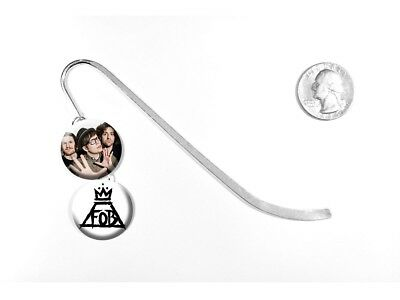 """Fall Out Boy Rock Band Patrick Stump Centuries 5"""" Silver Bookmark"""