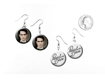 Panic! At The Disco Brendon Urie Rock Band 2 Pairs of Charm Earrings