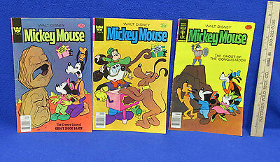 Walt Disney Mickey Mouse 1978 Comic Books Whitman & Gold Key Lot Of 3